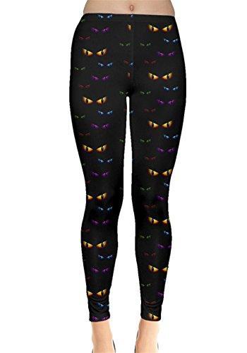 CowCow Womens Black Halloween Ghost Eyes Leggings, Black - 2XL for $<!--$17.99-->