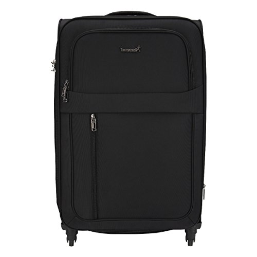 Traworld Earth 1004 28 inch 4Wheel Trolley Bag   Black