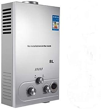 VEVOR Calentador de Gas 6L/8L/10L/12L/16L/18L, Calentador de Agua de Gas Natural, Calentador de Agua a Gas LNG, Calentador Gas, Calentador de Agua (8L)