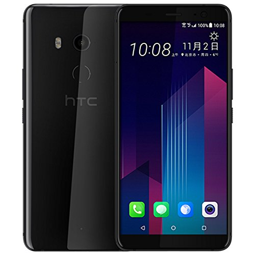 HTC U11 128GB Dual SIM Model - Factory Unlocked Phone - International Version - GSM ONLY, NO Warranty in The US (Brilliant Black) ()
