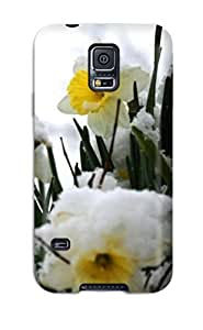 New Craigmmons Super Strong Daffodils In The Snow White Nature Flower Tpu Case Cover For Galaxy S5