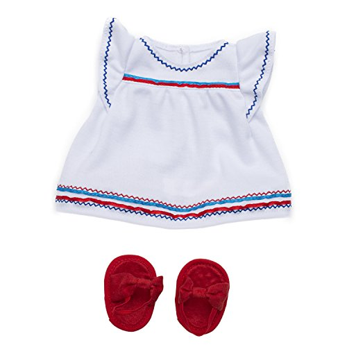 Manhattan Toy Baby Stella Liberty Dress & Sandals Baby Doll Clothes for 15
