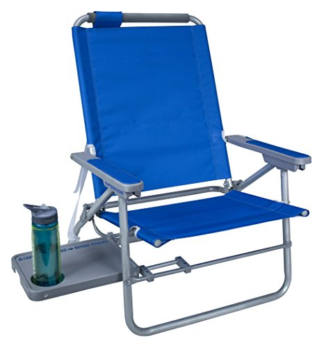 GCI Waterside Big Surf Reclining Beach Chair with Side Table, Saybrook (Big Surf Water Slide)