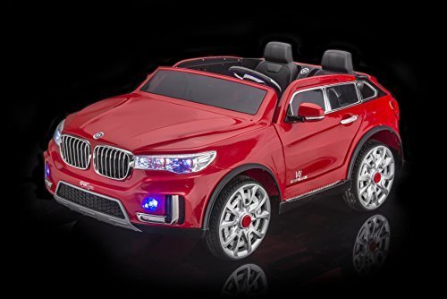 amazoncom sportrax bmw x7 style kids ride on car 2 seater battery powered remote control wfree mp3 player red toys games