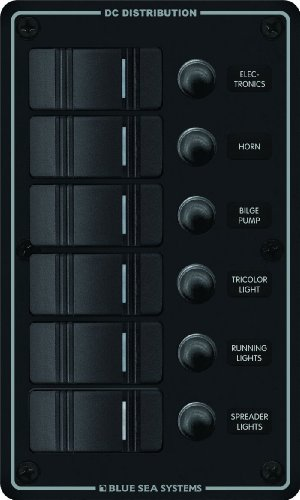 Water Resistant Circuit Breaker Panel 6 Position Black