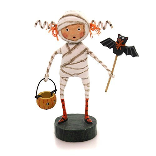 Lori Mitchell MINNIE MUMMY Polyresin Bat Pumpkin Halloween 11051 -