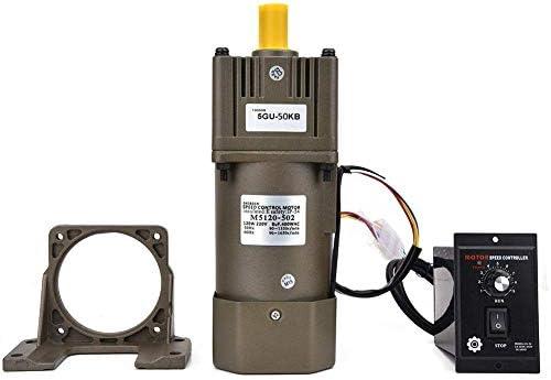 SSY-YU 減速ギアモーター、ギアボックスコントローラブラケット付き単相リバーシブルギアモーター(50K) 電動工具用