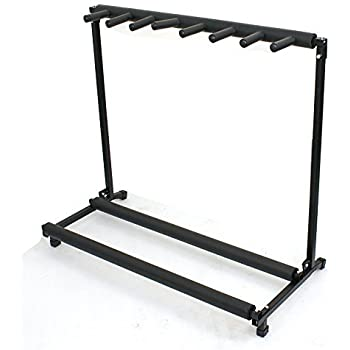 ZENY 7 Multi Guitar Bass Folding Stand Stage 7 Holder Rack Guitar Stand