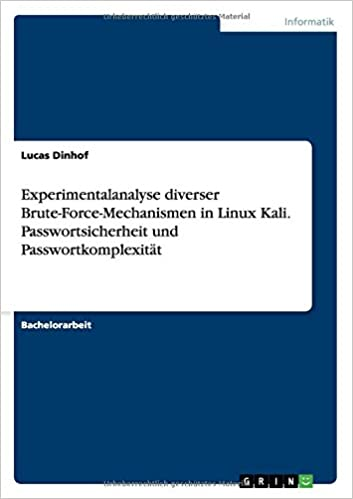 Experimentalanalyse diverser Brute-Force-Mechanismen in Linux Kali. Passwortsicherheit und Passwortkomplexität