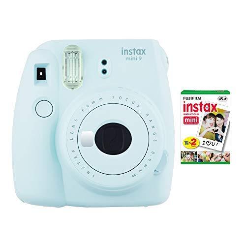 Fujifilm instax Mini 9 Instant Camera (Ice Blue) with Film Twin Pack Bundle (2 Items) from Fujifilm