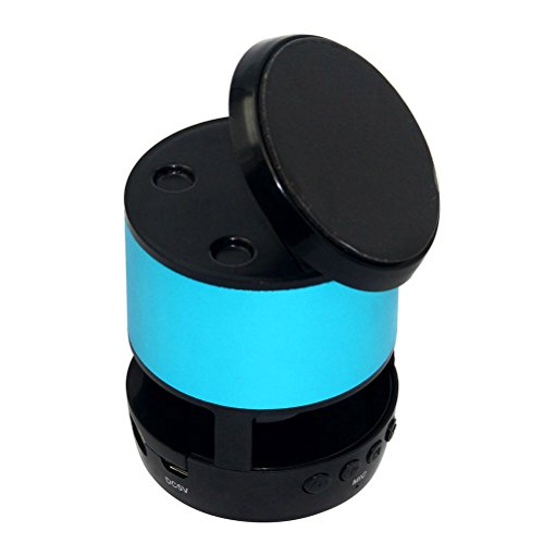 Tinksky Protable Wireless Bluetooth Speaker Music Player with Phone Stand TF Card Slot (Blue)