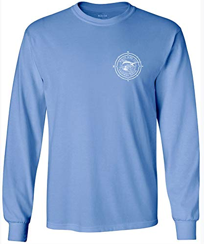 Joe's USA Koloa Surf Long Sleeve Marlin Logo Heavy Cotton - Carolina Sleeve Usa Long
