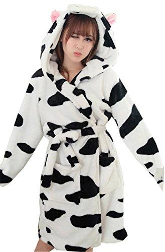 Betusline Womens Cartoon Flannel Pajamas product image