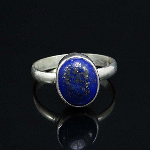 Banithani 925 argent pur lapis anneau de pierre lazuli mode indien cadeau de bijoux pour les femmes
