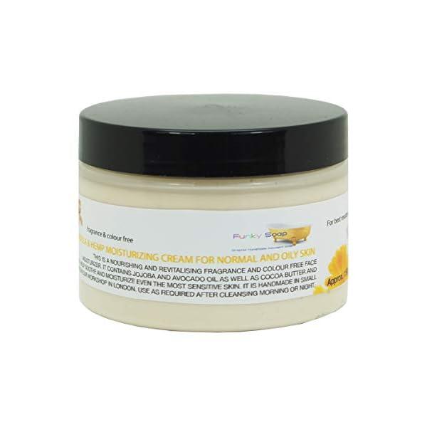 Handcrafted Calendula & Hemp Moisturising Cream For Normal & Oily Skin, 150g