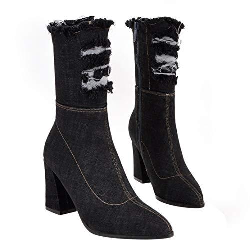 Donna Stivali Stivali Classici Aiyoumei Donna Aiyoumei Nero Classici Aiyoumei Stivali Nero qB0xdqw