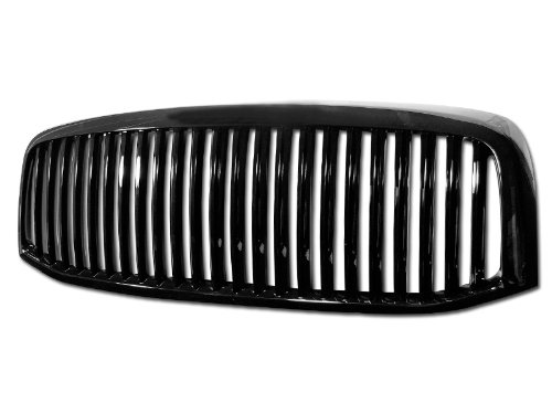 R L Racing Black Finished Vertical Front Hood Bumper Grill Grille Cover 2006 2009 For Dodge Ram 1500 2500 3500