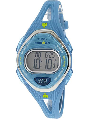 Timex Women's Ironman Sleek TW5M13500 Blue Silicone Quartz Sport Watch