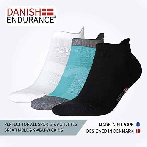 Low-Cut Pro Running Socks (Multicolor (1 x Caribbean Blue, 2 x Black, 2 x White) 5 Pairs, US Women 11-13 // US Men 9.5-12.5)