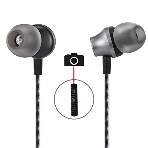 In-Ear Earbuds With Selfie, Kicoeoy Wired Earphones Stereo B
