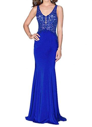 Chiffon Braut Spitze La Traeger Royal Blau Lang Blau Marie Promkleider Abendkleider Damen Ballkleider Partykleider Royal Tq5Bq0w