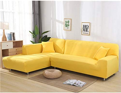 Lqhyf Solid Color Elastic Sofa Cover For L Shaped Sectional Corner Chaise Longue Sofa Stretch Couch Cover Slipcovers For Living Room 1 Seat 90 140cm Buy Online At Best Price In Uae Amazon Ae