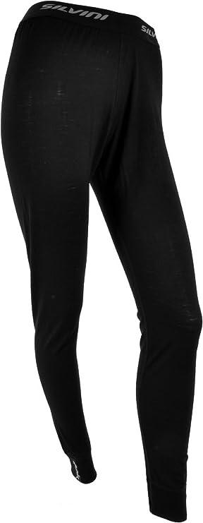 SILVINI Mujer Ropa Interior de Lana Merino Pantalones Largos, Mujer, Lana, Negro,