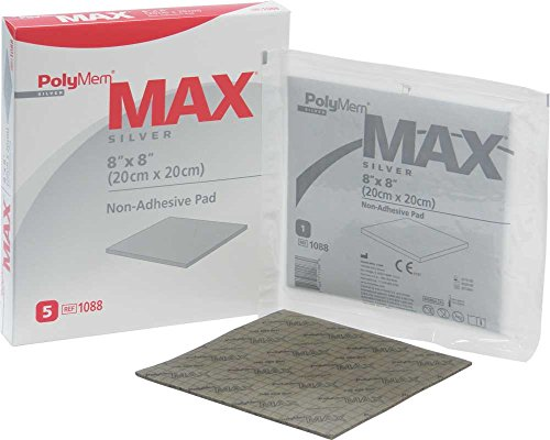 PolyMem Max Non-Adhesive Wound Dressing, Super Thick, Foam, 8' X 8' Pad, 1088 (Case of 10)