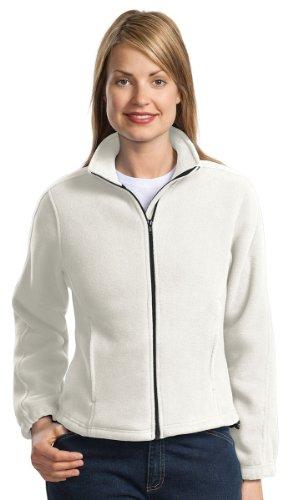 Port Authority Women's R Tek Fleece Full Zip Jacket 3XL Winter White (Port Fleece R-tek Ladies Authority)