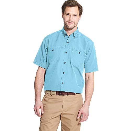 G.H. Bass & Co. Men's Explorer Short Sleeve Fishing Shirt Solid Button Pocket