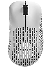 Pulsar Gaming Gears - Xlite Wireless Ultralight High Performance Super Light and Fast Ergonomic Gaming Mouse 2.4Ghz 1ms 20000 DPI Optical Sensor PAW3370 (White)