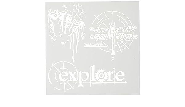 15,2/x 15,2/cm Crafters Workshop/ /Plantilla de Pl/ástico exploraci/ón con alas