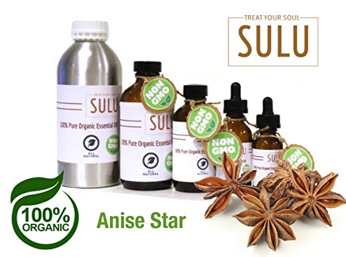 100% Pure and Certified Organic Anise Star Essential Oil (16 fl.oz / 453 ml)