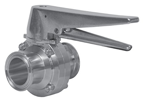 2-1//2 Clamp Ends w//FKM Seat /& Trigger Handle Dixon Sanitary B5101 Butterfly Valve