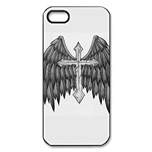 Angel Wings Pattern black plastic case For iphone 5,5s at Run horse store