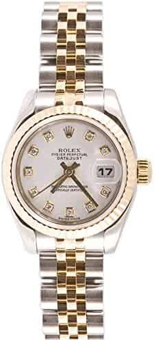 Rolex Ladys 179173 Datejust Steel & 18k Gold, Jubilee Band, Fluted Bezel & White Diamond Dial