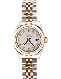 Ladys 179173 Datejust Steel & 18k Gold, Jubilee Band, Fluted Bezel & White Diamond · Rolex