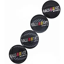 New 4pcs RALLI ART Sports Car Wheel Center Hub Caps Cover Rim Sticker Badge Ralliart For mitsubishi lancer asx outlander pajero