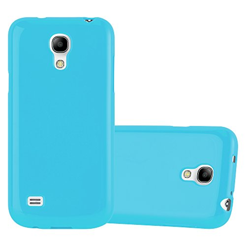 Cadorabo Case Works with Samsung Galaxy S4 Mini in Jelly Light Blue - Shockproof and Scratch Resistant TPU Silicone Cover - Ultra Slim Protective Gel Shell Bumper Back Skin