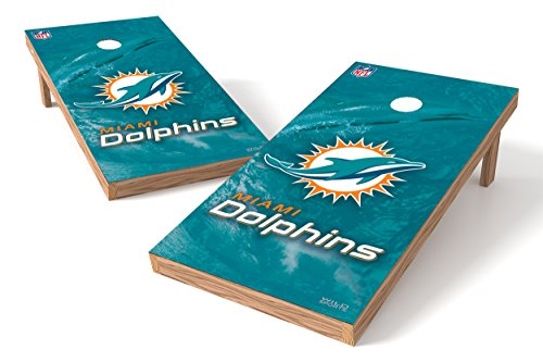 Wild Sports NFL Miami Dolphins 2' x 4'  Authentic Cornhole Game Set