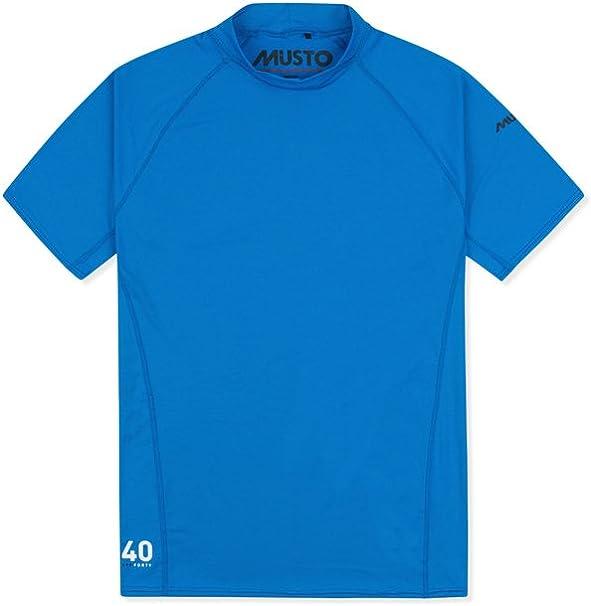 Musto para Insignia UV Dry Camiseta de Manga Corta Camiseta Camiseta Top Azul Brillante - Unisex - Estiramiento fácil: Amazon.es: Deportes y aire libre