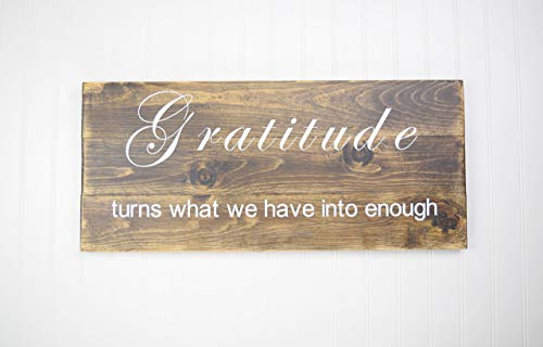 - Wood Sign - Gratitude Wall Décor - Inspirational Quotes - Popular Wood Sign Sayings