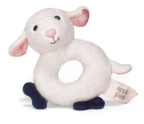 Apple Park Teething Rattle, Lamby (Pal Rattle)