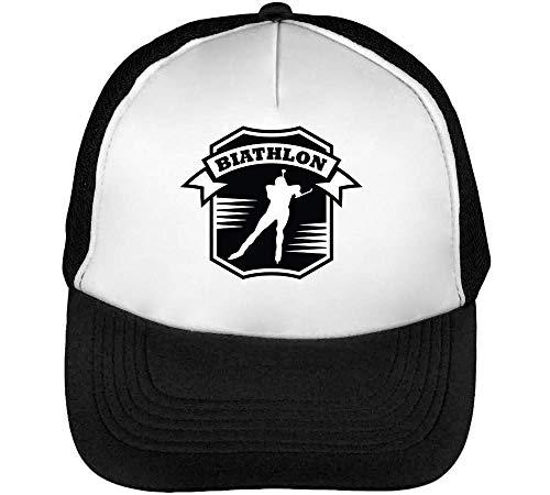 Gorras Beisbol Sport Snapback Hombre Biathlon Blanco Badge Negro wCqvqEOx