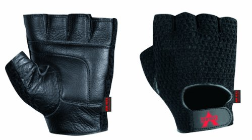 Valeo Mesh Fingerless Anti-Vibe Gloves With AV Gel In Palm, Thumb, And Index Finger-Genuine Leather With Cotton Mesh Back, Soft Terry Lining For Comfort, Hook and Loop (Mesh Terry Gloves)
