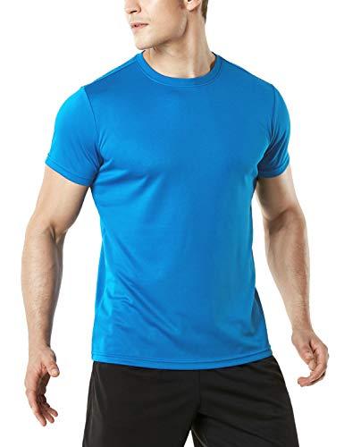 Sky Blue Soccer T-Shirt - TSLA Men's (Pack of 1) FlexDri