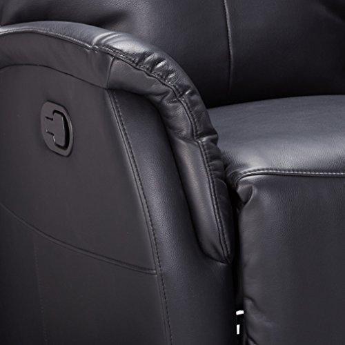 ACME Black Leather-Aire Rocker Recliner