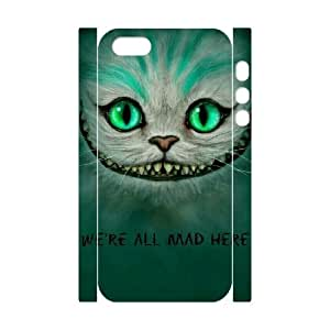 3D We're All Mad Here Green For Iphone 6 Plus Phone Case Cover White