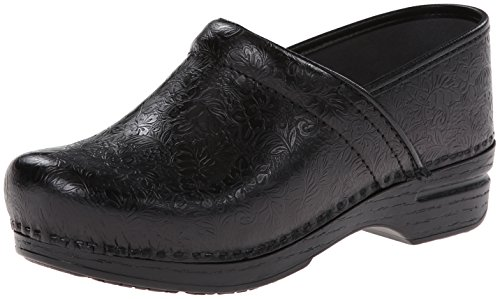 Dansko Women's Pro XP Mule,Black Floral Tooled,39 EU/8.5-9 M US