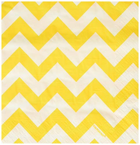 Breeze Luncheon Napkins - Amscan 511492.09 Luncheon Napkins Party Supplies, One Size, Yellow Sunshine